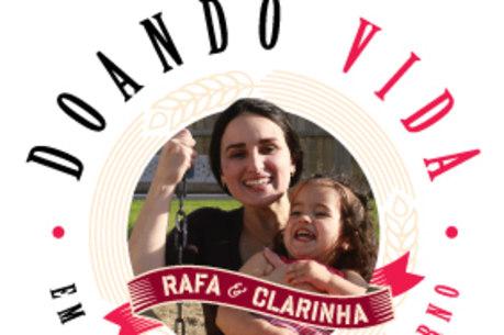 """A campanha """"Doando vida em nome de um eterno"""" também tem o objetivo de arrecadar donativos para o centro social que levará o nome da pequena Clara"""