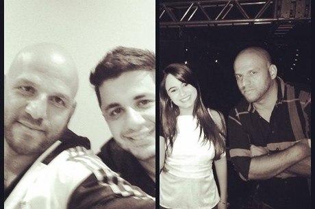 Ronaldo Ribeiro ao lado de Cristiano e de Allana