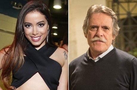 Anitta e Zé de Abreu trocaram farpas no Twitter