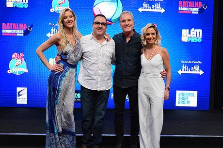 Gianne Albertoni, Rodrigo Carelli, Roberto Justus e Bruna Calmon: equipe da Fazenda na TV e no R7