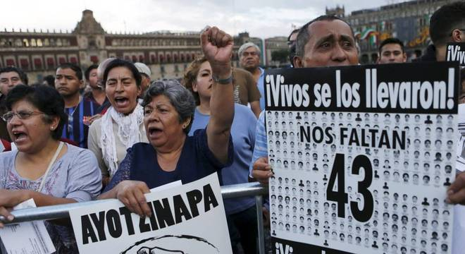 Em 2014, 43 estudantes desapareceram no estado de Guerrero, no México