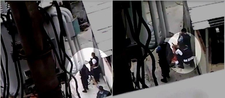 Policiais usaram arma de fogo para atirar para o alto e depois dispararam usando, também, a mão da vítima