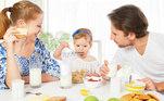 café da manhã, família, refeição