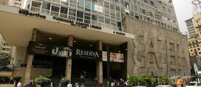 Fachada do prédio da Fundação Cásper Líbero  na avenida Paulista, região central de São Paulo