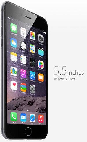 iPhone 6s Plus tem uma tela de 5.5 polegadas