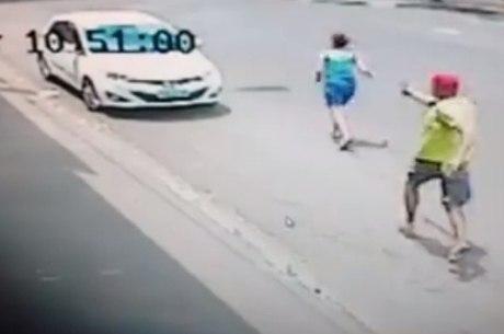 Câmera de segurança registrou o crime; sargento se entregou