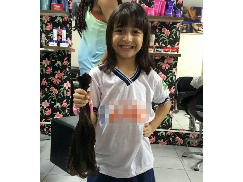 Exemplo Menina De 5 Anos Corta O Cabelo Para Doar A