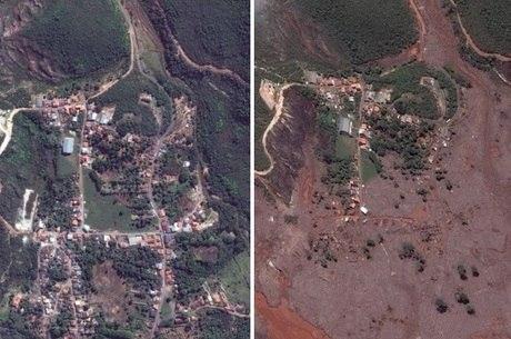 Imagens mostram a dimensão da destruição provocada em Bento Rodrigues