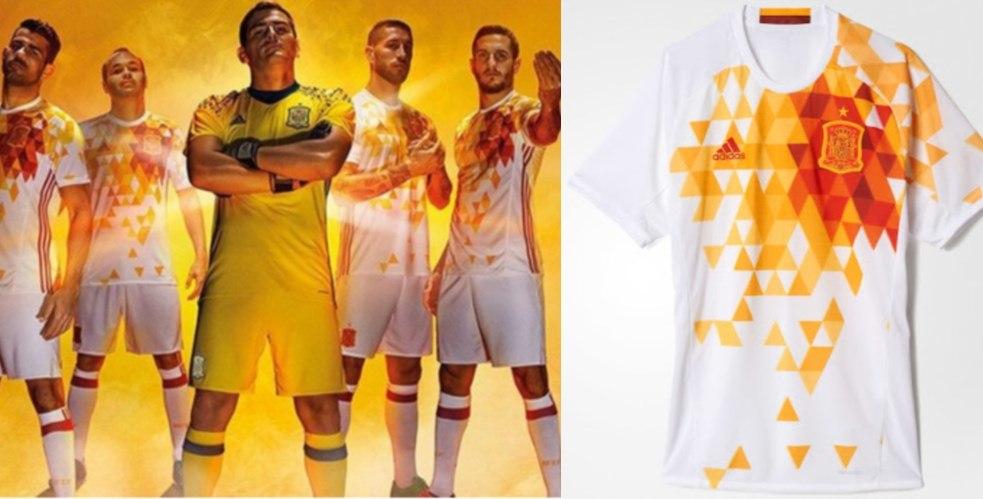 5928ad5cab3e9 Nova camisa reserva da Espanha entra para a lista dos uniformes mais ...