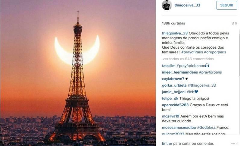 ff9d2797e ... Atletas por todo mundo compartilharam sua solidariedade aos atingidos  nos ataques na França.