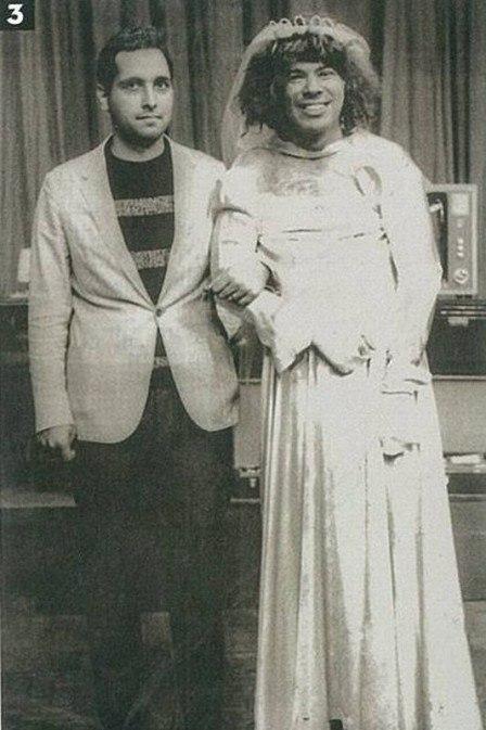 Silvio Santos aparece vestido de noiva em foto antiga