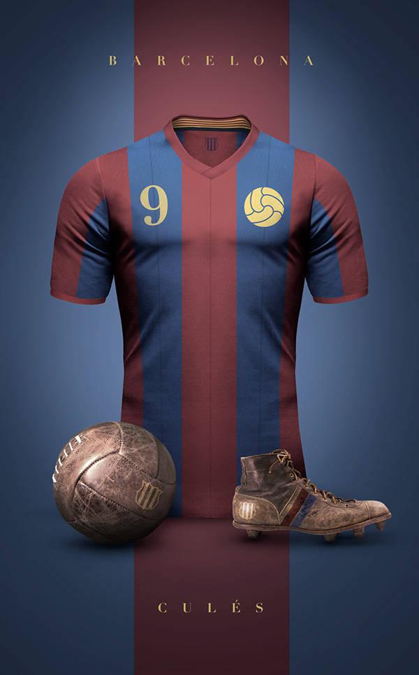 ffcefded7c6d5 Designer cria vintage impressionante de camisas de clubes europeus ...