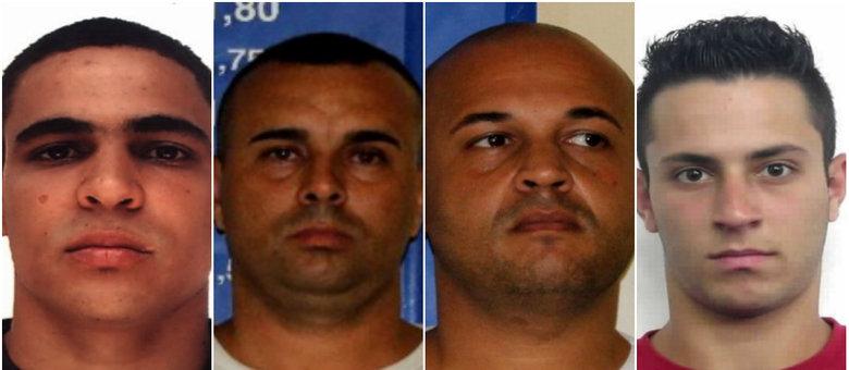 Os PMs presos: Antônio Carlos Gonçalves Filho, Fábio Oliveira da Silva, Marcio Alves dos Santos e Thiago Viana Barbosa