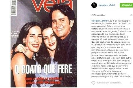 Cleo Pires relembra boato de affair com padrasto, Orlando
