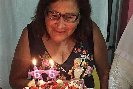 Sebastiana completou 66 anos em 1º de dezembro