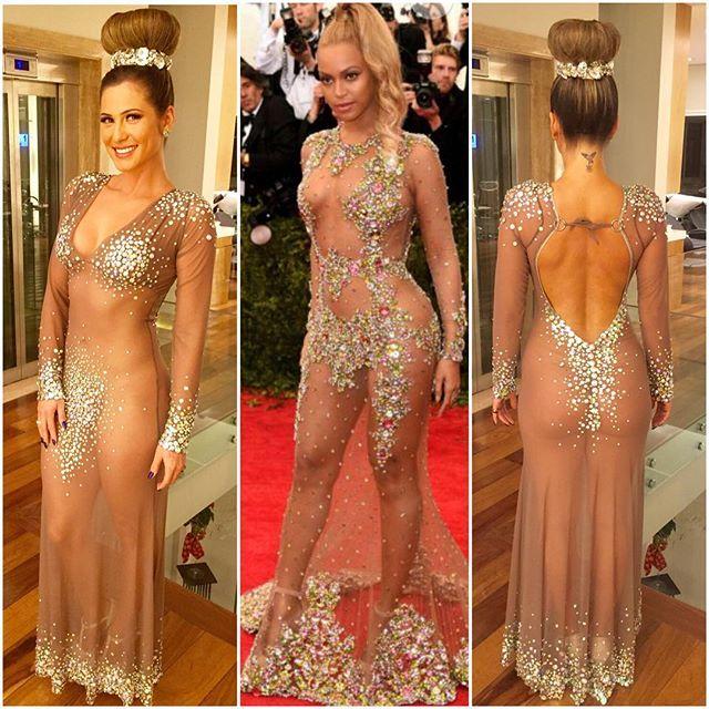 c030500a65bc Livia Andrade se inspira em Beyoncé e usa vestido transparente em ...