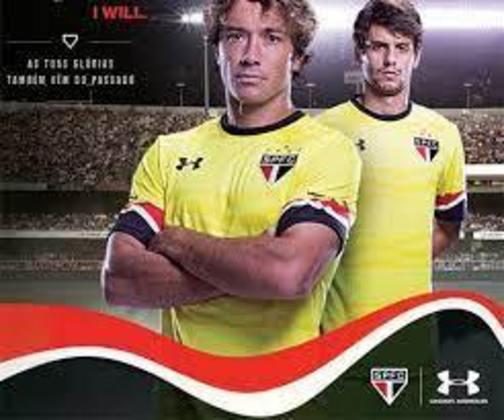 2016 - O São Paulo lançou a camisa amarela como referência às conquistas do time do Morumbi. O lema de lançamento foi: