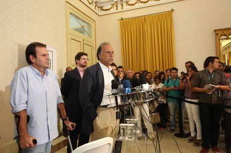 Paes e Pezão anunciaram a medida na tarde desta terça-feira (5)