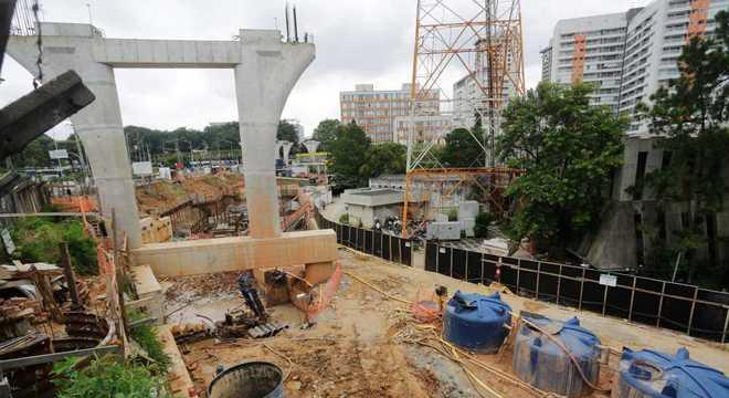 Obras da Linha 17-Ouro permanecem inacabadas há 8 anos