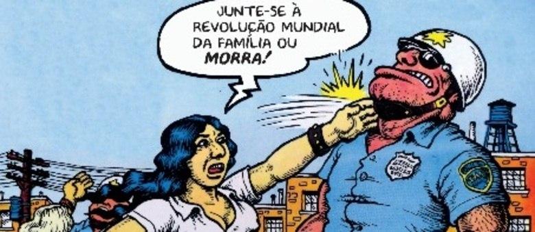 Ilustração de Robert Crumb está na capa do livro Viva a Revolução, publicada no Brasil pela editora Veneta