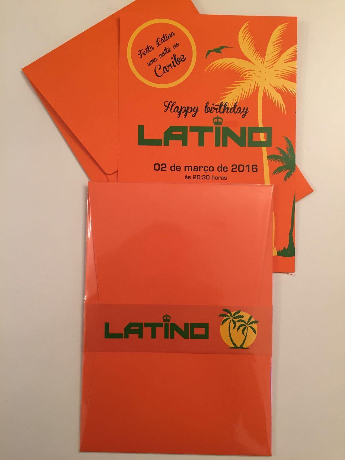 Veja o convite da festa de aniversário de Latino avaliada em R$ 200 mil