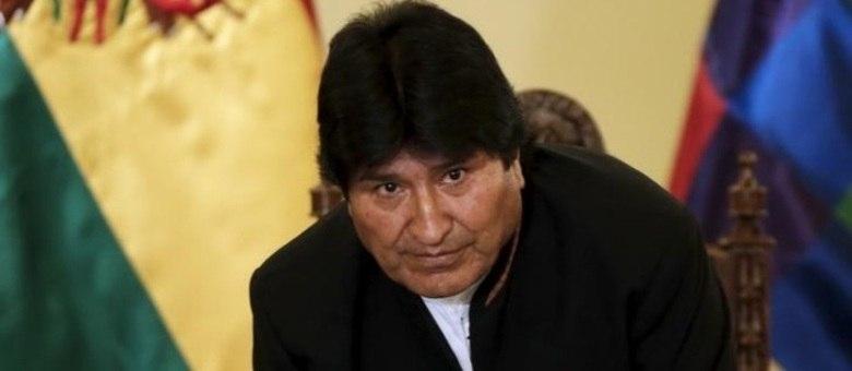 Presidente da Bolívia, Evo Morales, deixa entrevista coletiva no palácio presidencial em La Paz