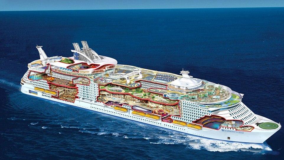 Maior navio de cruzeiro do mundo tem tobogã gigante ...