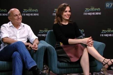 Monica Iozzi e Ricardo Boechat, dubladores de Zootopia