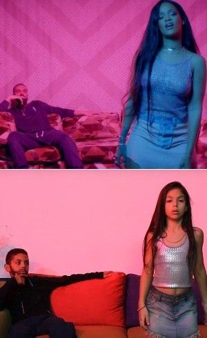 Rihanna acima, Melody abaixo