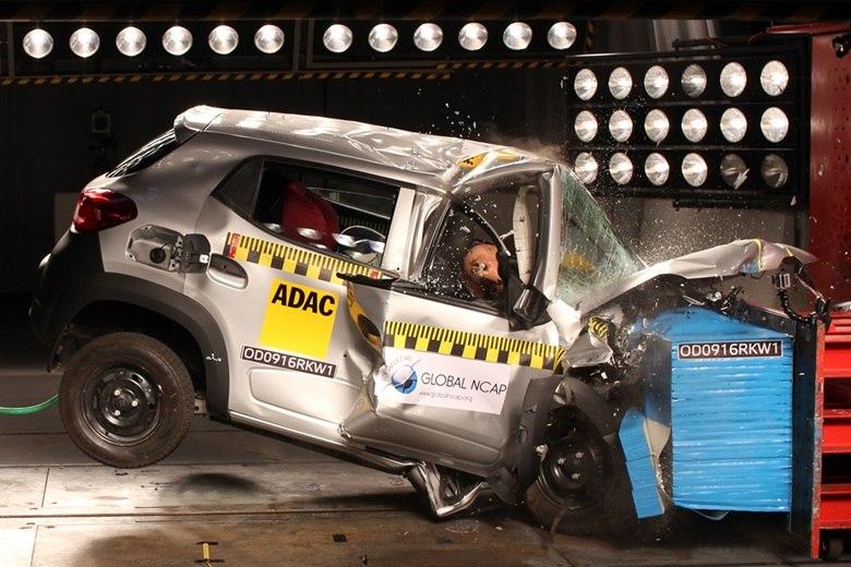 Sucessor do Clio, Kwid zera teste de colisão na Índia; Renault diz que versão brasileira será mais segura