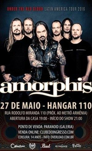 Amorphis se apresenta em SP no dia 27 de maio