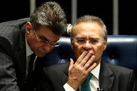 Acusados de obstrução da Justiça, senadores Renan Calheiros e Romero Jucá tiveram a prisão pedida pelo procurador da República