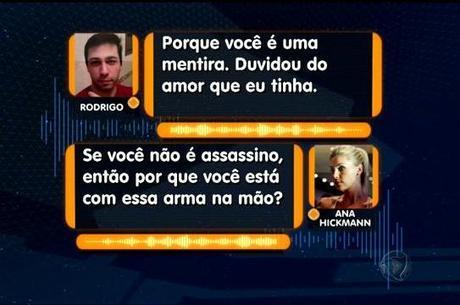 Áudio revela obsessão de Rodrigo por Ana Hickmann
