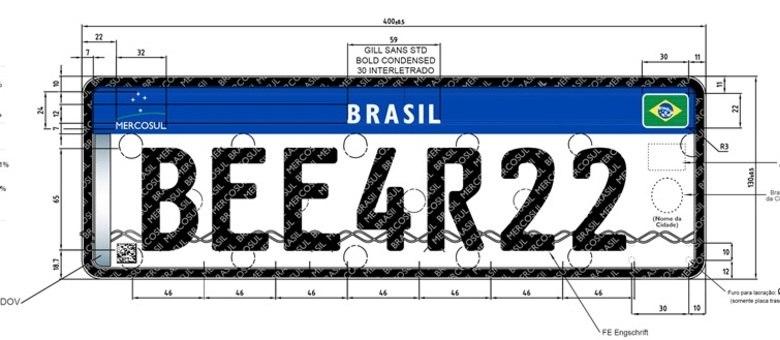 Novas placas do Mercosul mantém número de caracteres, mas oferecem quase três vezes mais combinações