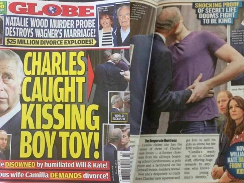Revista Mostra Foto De Suposto Beijo Entre Principe Charles E Rapaz Entretenimento R7 Famosos E Tv