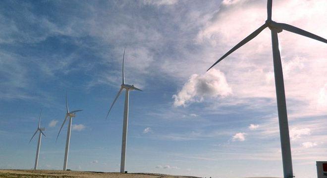 Parque eólico de Icaraí de Amontada é um dos principais geradores de eletricidade do Nordeste