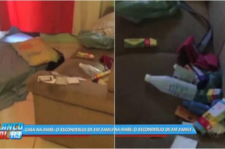 Segundo policiais, casa encontrada na comunidade com medicamentos e material para curativo é esconderijo de Fat Family
