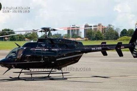 Modelo do helicóptero que desapareceu neste domingo (26)
