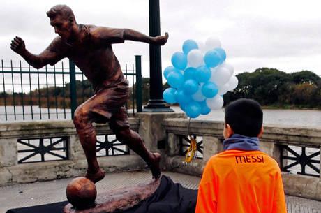 Craque foi imortalizado em bairro turístico de Buenos Aires