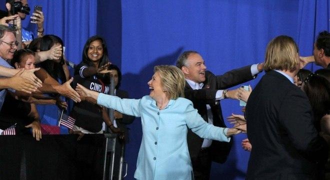 HIllary durante campanha eleitoral em Miami