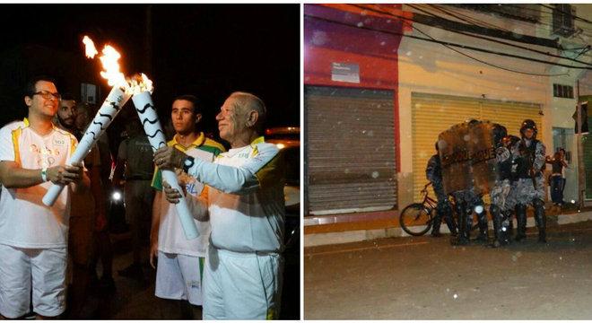 Moradores, que protestavam contra mau estado da saúde na cidade, foram contidos por Batalhão de Choque