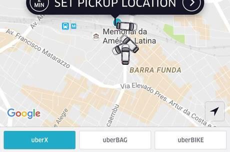 Uber opera com redução de 15% das tarifas em São Paulo