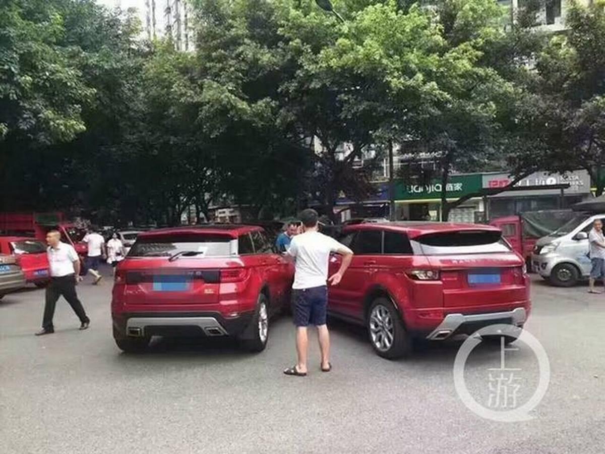 80fac04f47320 O encontro dos clones  dono de Land Wind X7 bate em Land Rover Evoque em  cruzamento na China - Notícias - R7 Carros