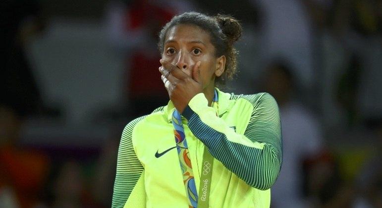 Rafaela Silva conquistou a medalha de ouro em 2016 e foi impedida de competir em 2021