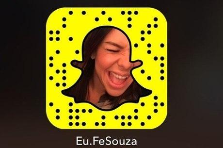 Fernanda Souza está na lista dos Snapchats favoritos