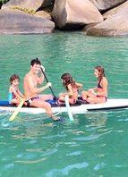 Família em dia de navegar