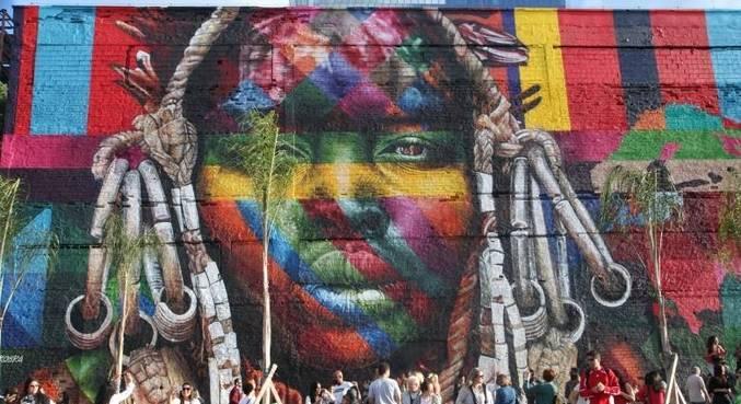 Museu Etnias, de Kobra, marca espaço de arte na zona portuária do Rio