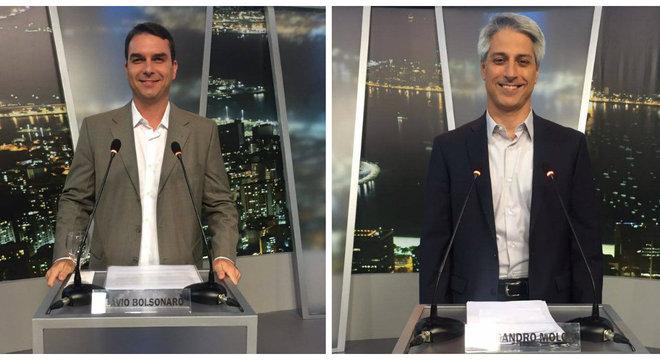 Flavio Bolsonaro e Alessandro Molon trocaram farpas durante o debate