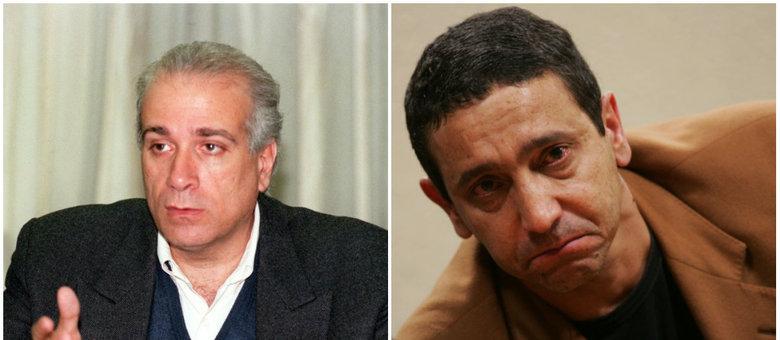 Celso Daniel (esquerda) foi morto em janeiro de 2002. Sombra (direita) estava com ele quando foi sequestrado