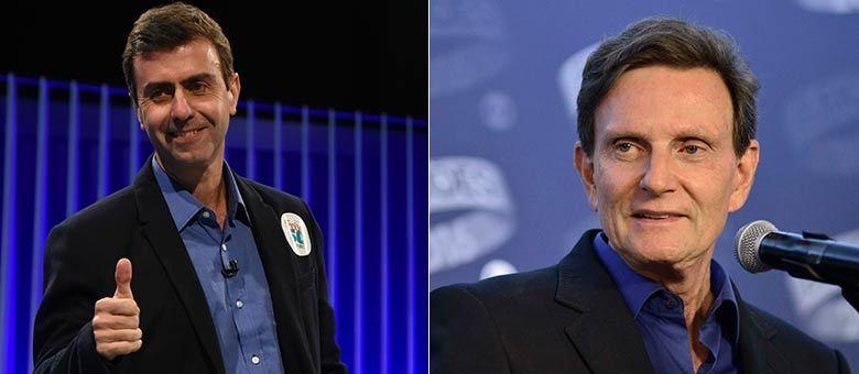 Candidatos a prefeito Marcelo Freixo (Psol) e Marcelo Crivella (PRB) participaram de debate para segundo turno